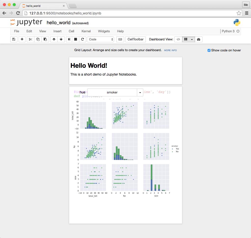 Creating dashboard layouts — Jupyter Dashboards - Layout 0 6